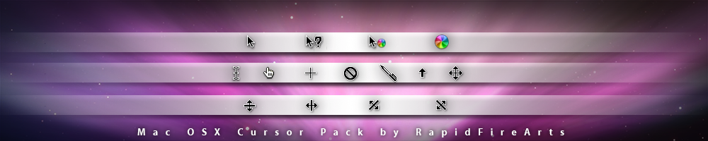 Mac OSX Cursor Pack by RapidFireArts v1.0