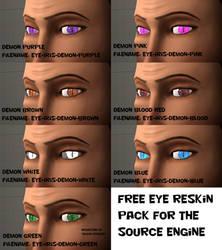 Eye Reskin pack - Demon edition [SFM DL] by Nikolad92