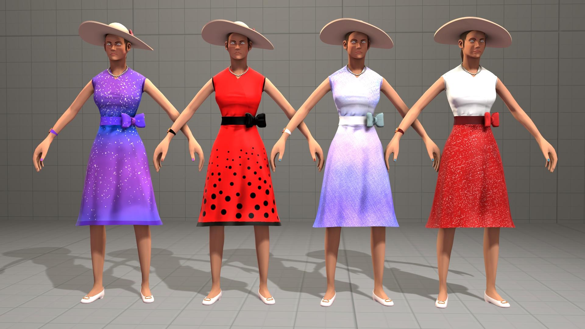 Femscout Dresses [SFM] [DL] by Nikolad92
