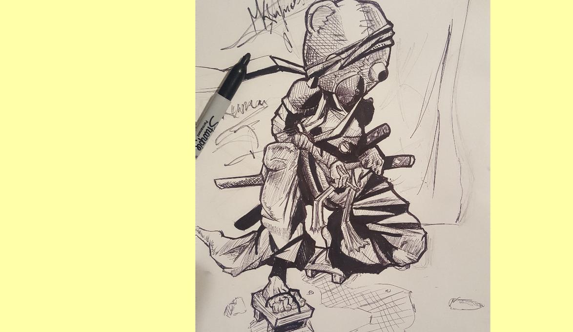 Kuma form Afro Samurai by Mkghosty
