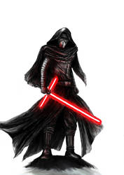 Star Wars - Kylo Ren (layer by layer) by KaeltheArchon