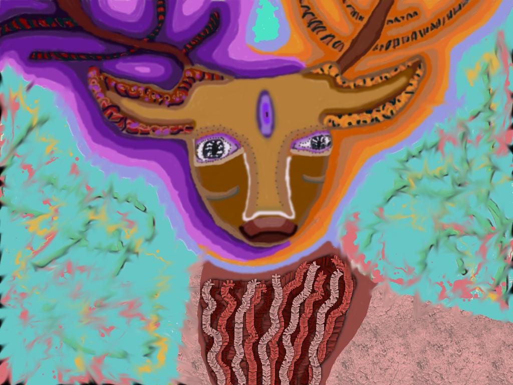 Fractal Deer by UNISPIRICAL