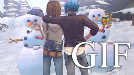 Max and Chloe building snowmen of each other by nicefieldSFM