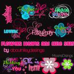 Flowers Hearts Cute Stuff PNG
