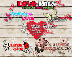 LOVE LOVE LOVE png text by aboutnileydesings
