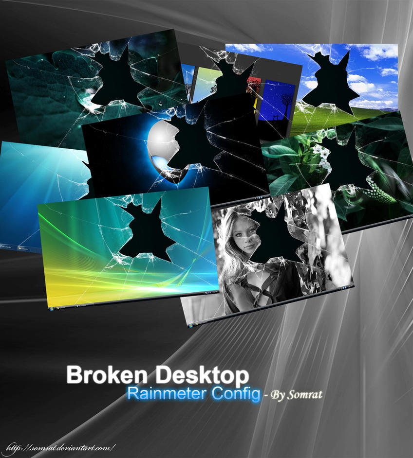 Broken Desktop - Rainmeter by CypherVisor
