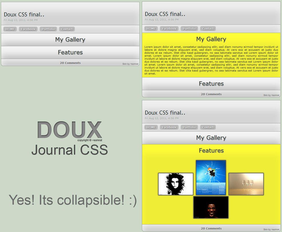 DOUX Journal CSS by CypherVisor