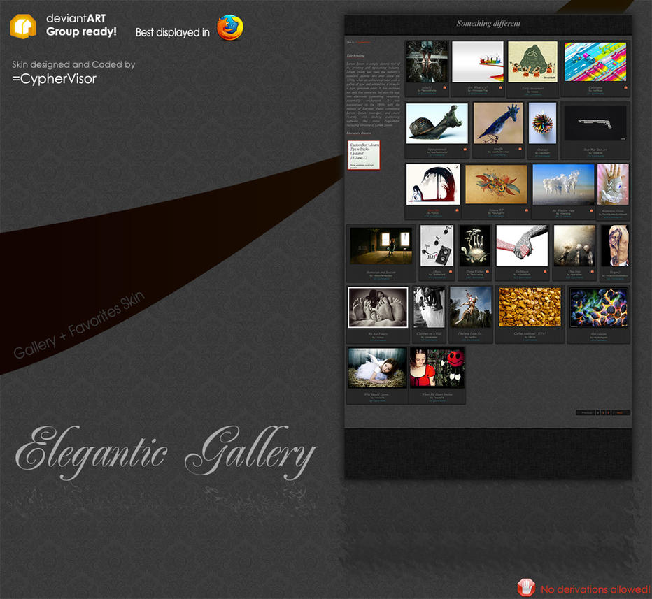 Elegantic Gallery Skin by CypherVisor