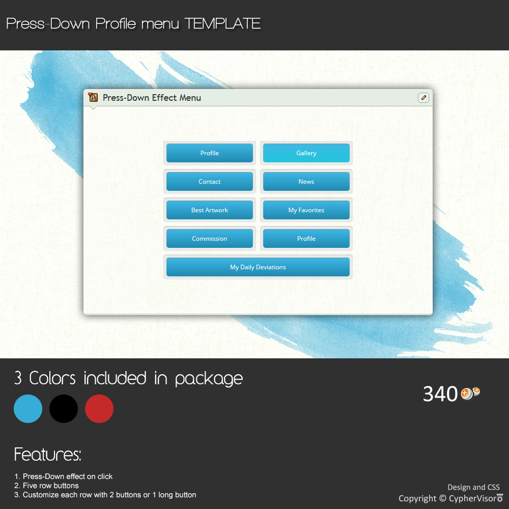 Press-Down Effect Profile Menu - Template by CypherVisor