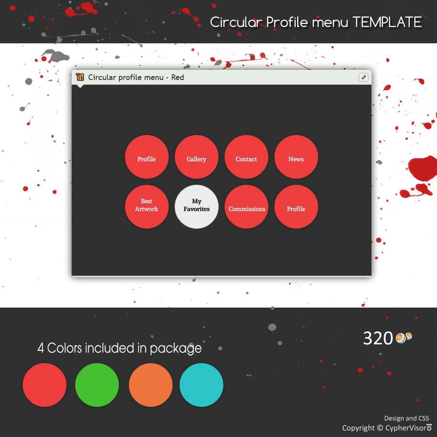 Circular Profile Menu Template By Cyphervisor On Deviantart
