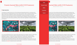 Fransis FREE Journal Skin (with CSS3 Features)