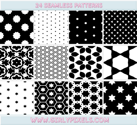 Aninimal Book: Black And White Patterns - Seamless / Repeating by ...