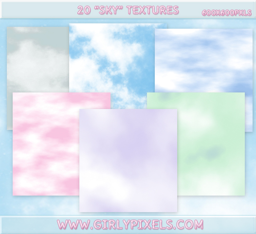 20 Sky Textures PACK - Clouds by girlypixels-com