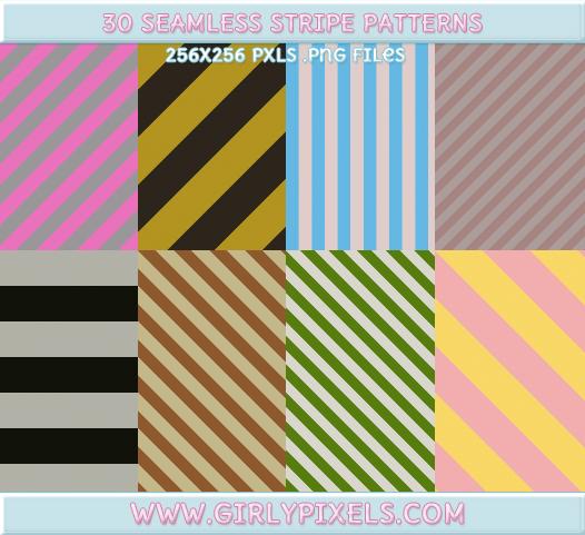Girlypixels Stripe Backgrounds / Patterns by girlypixels-com