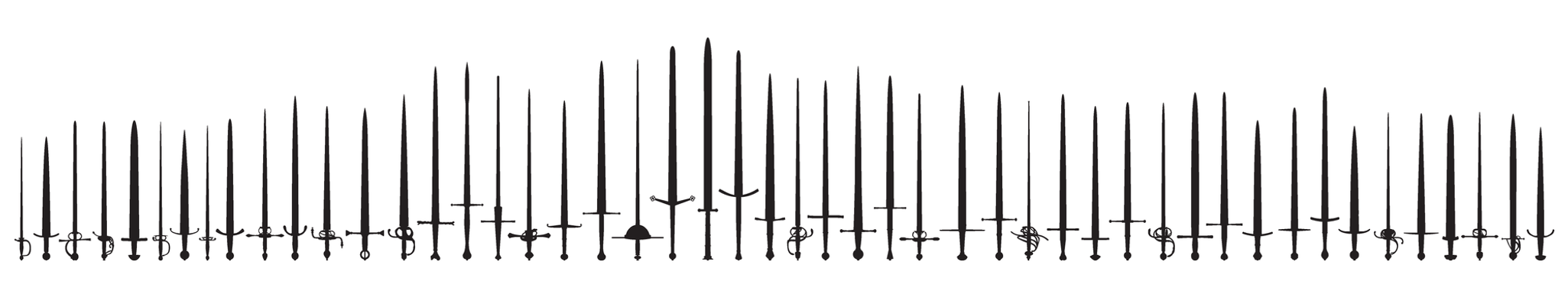 vector swords silhouette by gadyariv