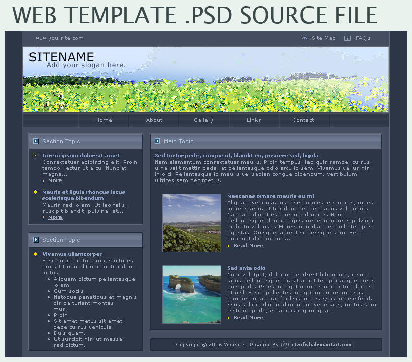 web template psd by ctznfish on deviantart