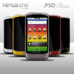 Nexus One by Google .PSD by zandog