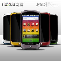 Nexus One by Google .PSD