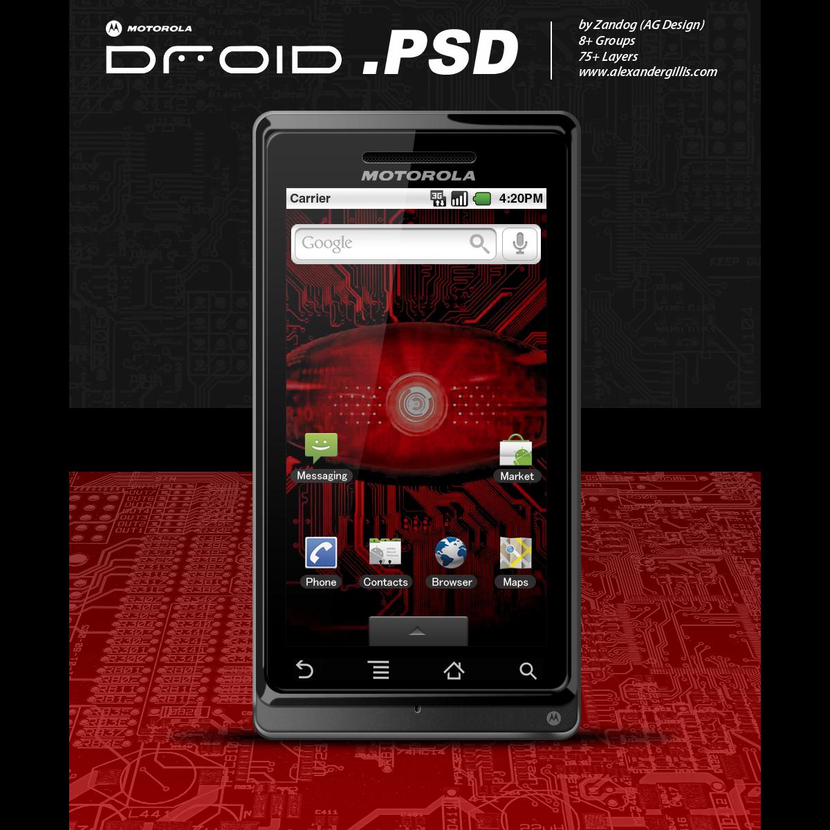 Motorola Droid .PSD