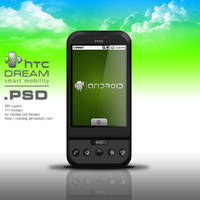 HTC G1 Dream Smartphone .PSD