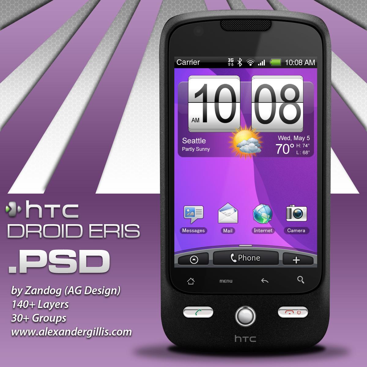 HTC Eris Smartphone .PSD by zandog