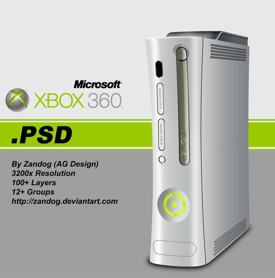Xbox 360 .PSD by zandog
