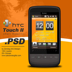 HTC Touch 2 Smartphone .PSD by zandog