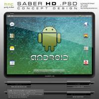 HTC SABER HD Tablet .PSD by zandog