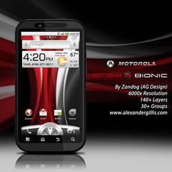 Motorola Droid Bionic v1 .PSD by zandog