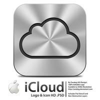 Apple iCloud Logo - Icon .PSD