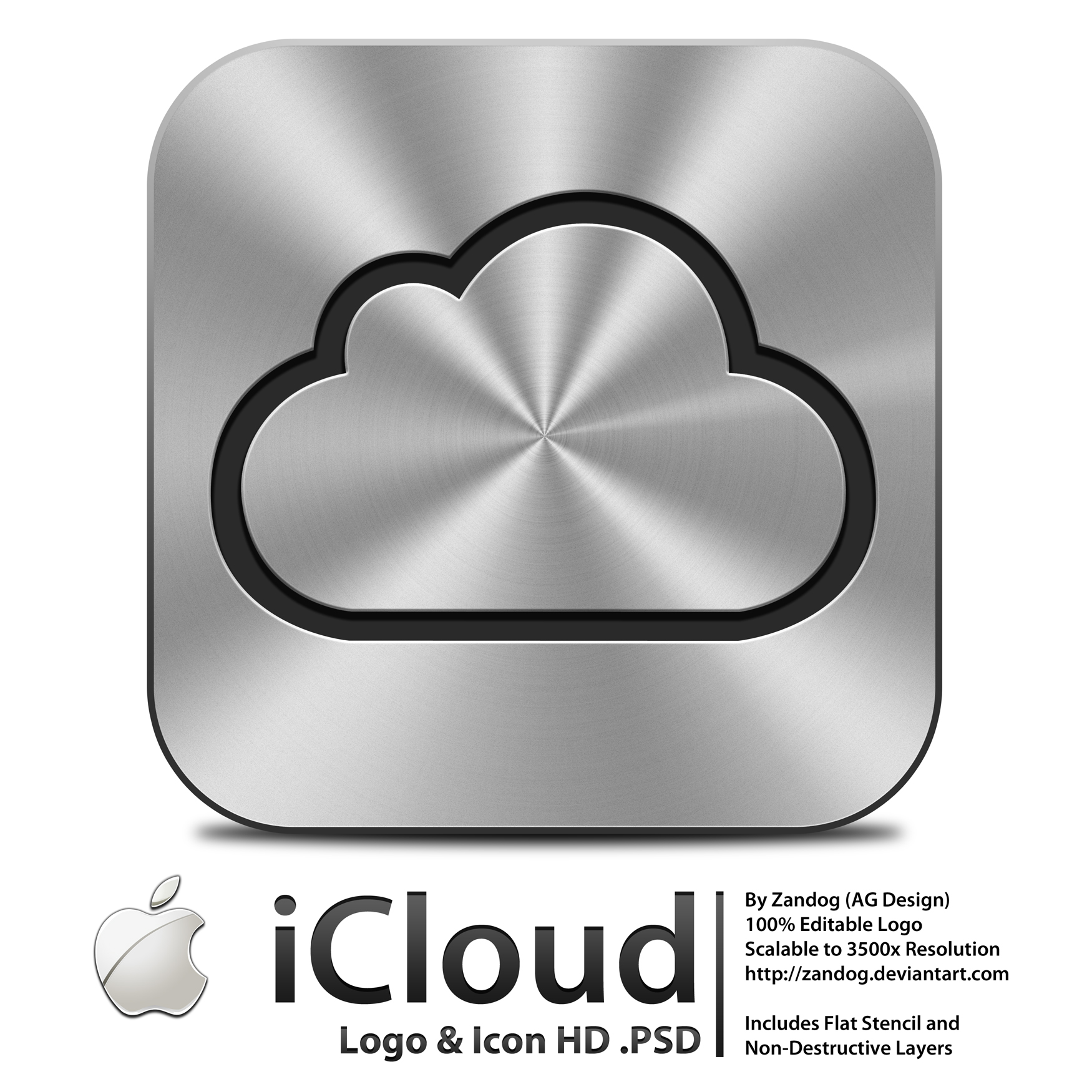 Apple Icloud Logo Icon Psd By Zandog On Deviantart