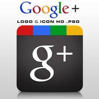 Google+ Logo and Icon HD .PSD by zandog