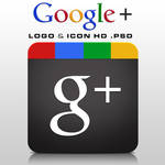 Google+ Logo and Icon HD .PSD