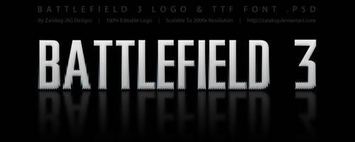 Battlefield 3 Logo .PSD