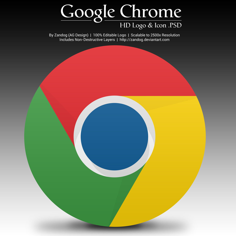 Google Chrome HD Logo and Icon .PSD by zandog