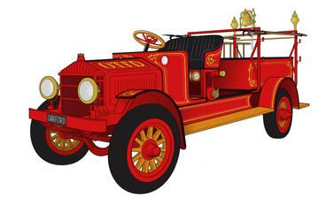 1917 Garford Fire Engine by BenjaminSapiens