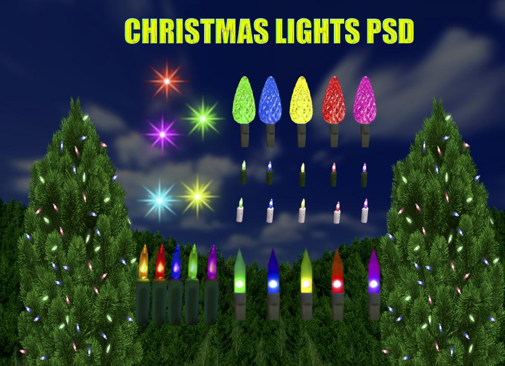 Christmas Lights PSD