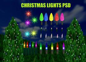 Christmas Lights PSD by dbszabo1