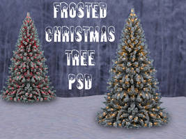 Frosted Christmas Tree PSD