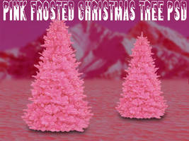 Pink Frost Christmas Tree PSD by dbszabo1