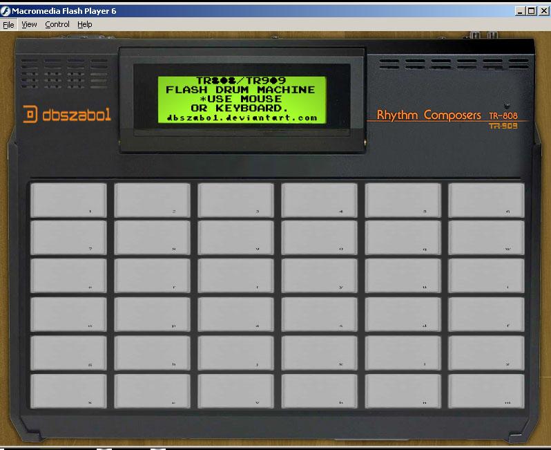 TR808-TR909 Flash Drum Machine by dbszabo1 on DeviantArt