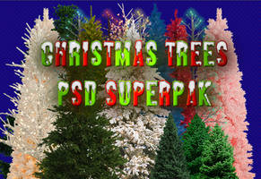Christmas Trees PSD SuperPak by dbszabo1