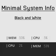 Minimalistic System Info by Dashie36