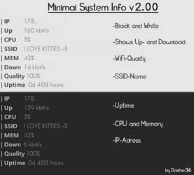 Minimalistic System Info v2 by Dashie36