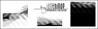 Stripped Grunge Masks -18- by ianthinae