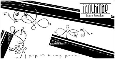 Large Decorative Brushes PSPX by ianthinae
