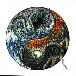 Duality Dragons by bundleofblues