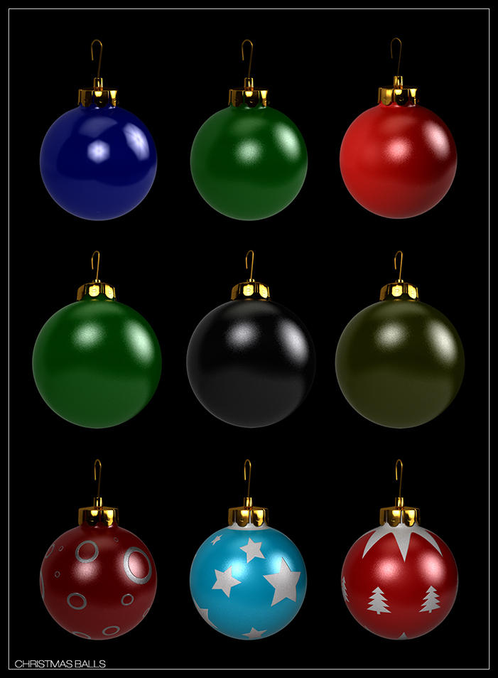 Christmas Balls pack 1 by zbyg