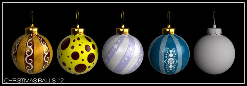 Christmas Balls pack 2 by zbyg