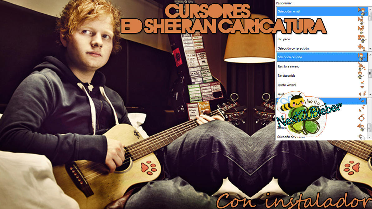 Cursor Ed Sheeran {Caricatura} by Cursorsandmore